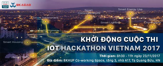 Khởi động Cuộc thi IoT Hackathon Việt Nam 2017